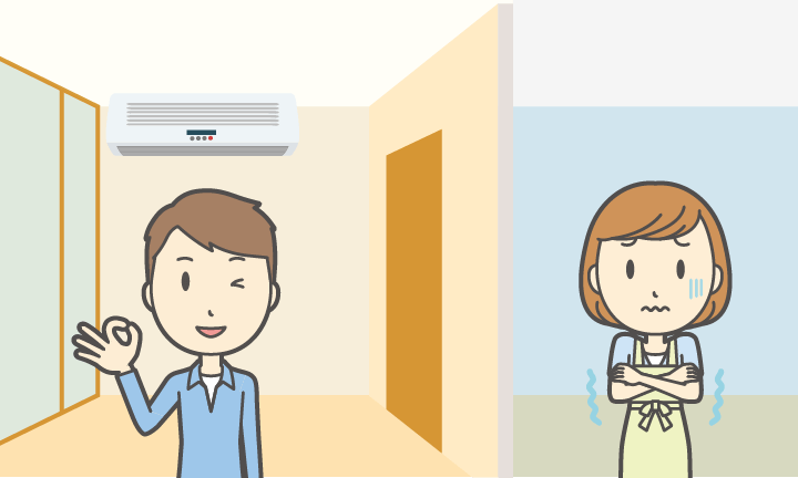 兵庫でZEH基準の高気密高断熱の住宅の様子