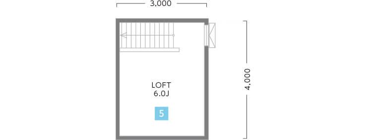 兵庫で中庭とロフトのある注文住宅