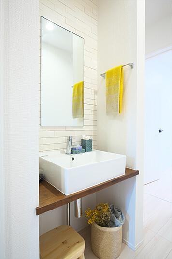 家事を共有し楽しむ住宅の手洗い動線