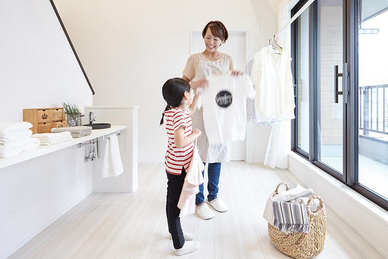 家事を共有し楽しむ住宅ファミリースペース