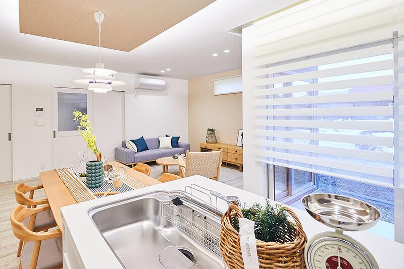 兵庫の平屋住宅のキッチン