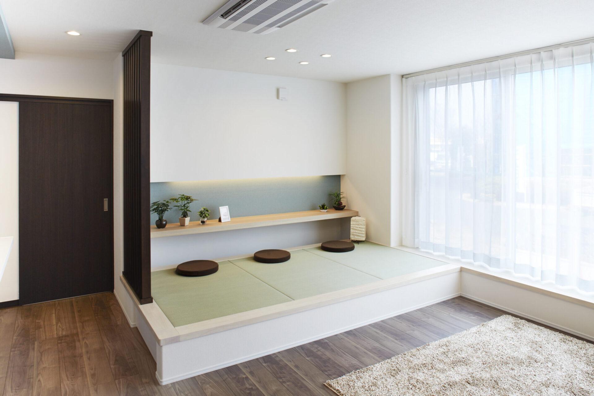 おしゃれなモダン和室のある注文住宅で大人の空間をつくる